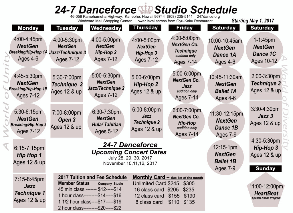 CLASS SCHEDULE_May_2017